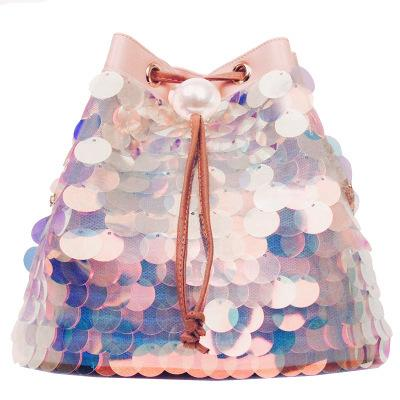 6f28ba1da1 2019 Fashion Women Bag Girl Sequined Bucket Bags Fashion Bling Sequins  Shoulder Bag Female Chain Drawstring Bag Bolsa Women S Handbags 2018  Handbags Brands ...