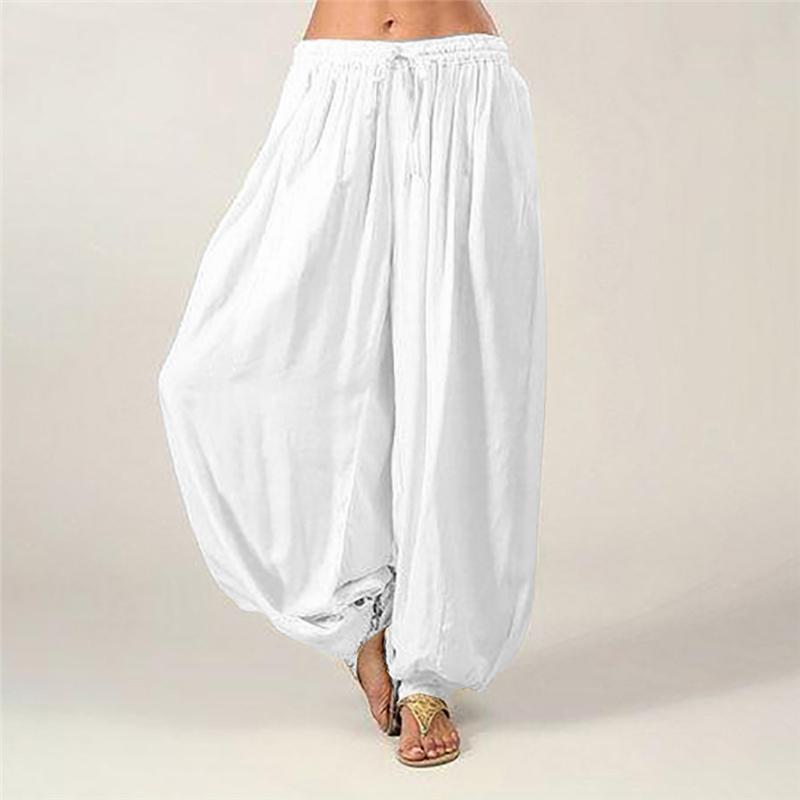 b9235720fba6 2019 New Women Ladies Fashion Casual Indian Style Pants Solid Baggy ...