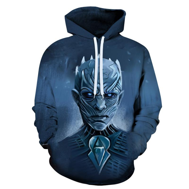 New Movie Game of Thrones Hoodie Homens Mulheres Todos os personagens Cosplay 3d capuz Hoodies Casual Men Streetwear pulôver 6XL