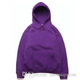 Hiphop Mens cappuccio rapper Kanye West con cappuccio ricamo Felpe hoodie Tops purple5692 #