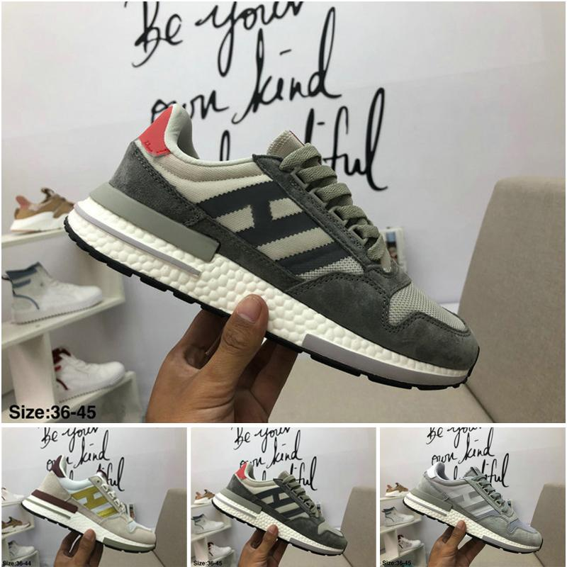 best sneakers 61bb3 15ae1 2019 High Quality classic casual shoes ZX 500 RM Shoes women and men  Designer Shoes ZX500 Designer luxury sneakers