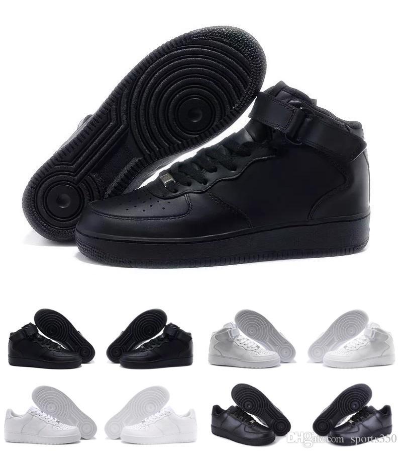 design de qualité cdd3e c6c1b Nike Air Force one AF1 Hommes Femmes air Flyline Chaussures De Course  Sports One Chaussures Haut Bas Blanc Noir En Plein Air Baskets Baskets 36-45