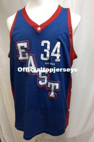 half off 69132 c9b85 #34 Paul Pierce 2004 East All Star bule BASKETBALL JERSEY Sewn Stitches  Customize any size and name XS-6XL vest Jerseys Ncaa