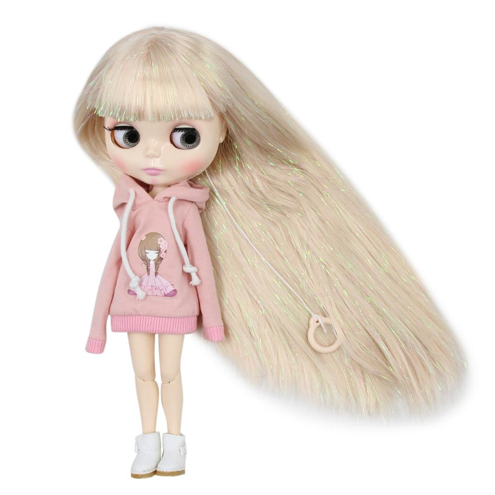 Factory blyth doll joint body white skin M-47-280BL3139 Shiny Blonde hair with bangs 30cm 1/6, gift for girl