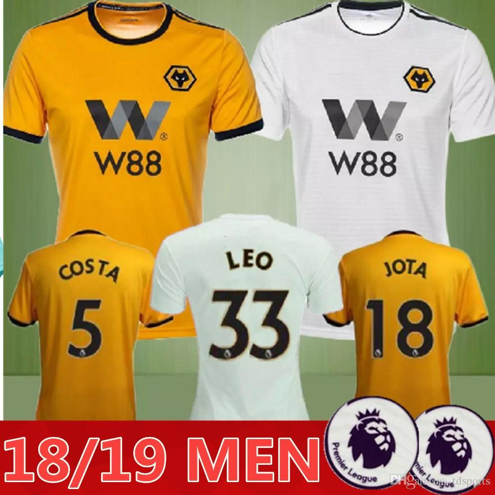 New 2018 2019 WOLVES ADULT HOME SHIRT Wolverhampton Wanderers Top ... fea090242