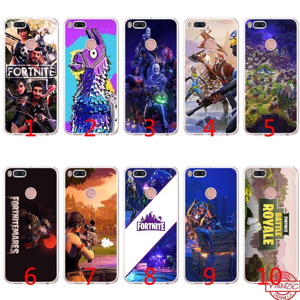 ed9d6085241 Fortnite Game Art Soft Silicone TPU Phone Case For Xiaomi Mi A2 Lite A1 5X  6X 8 SE 6 Mix 2S Cover Cell Phone Cases Covers Cell Phone Case Covers From  Emmall ...