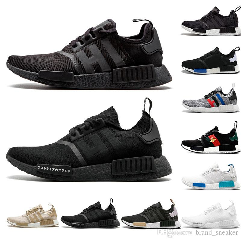 bdd507a3d2ee2 Cheap Cheap Runner NMD R1 Primeknit Running Shoes Men Women Classic OG  Triple Black White Red Grey Athletic Sneaker Trainer Sports Shoe EUR 36-44