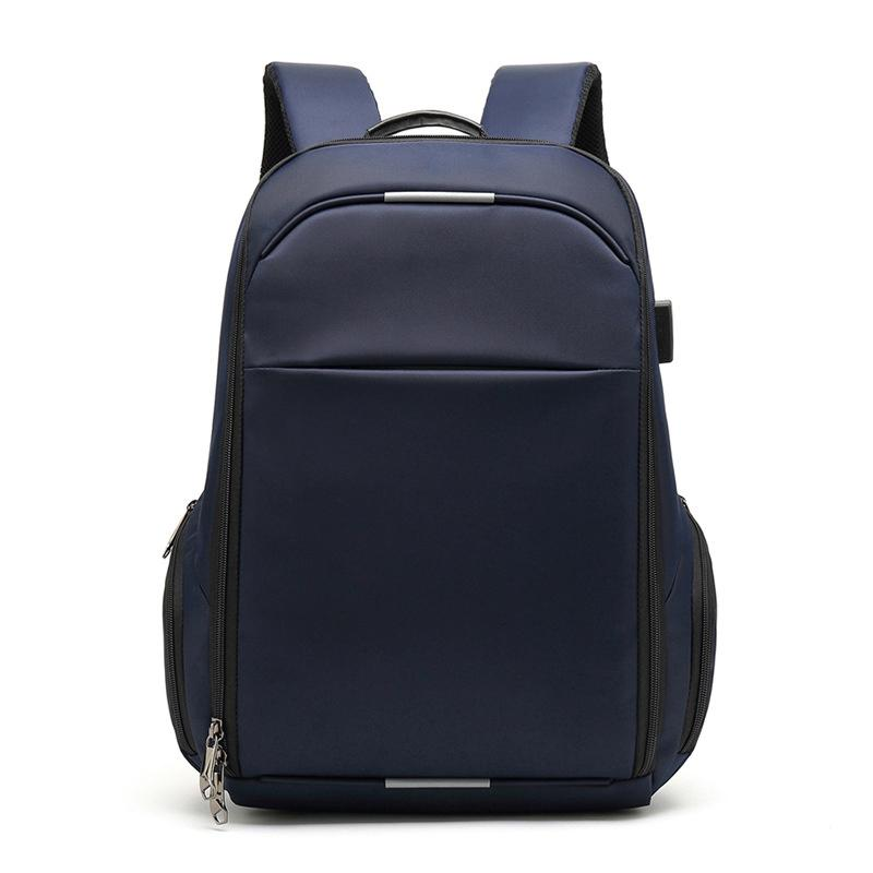 Men Fashion Oxford Cloth Backpack Usb Charging 15.6 Inch Laptop Backpacks For Teenager Male Mochila Leisure Travel Backpack