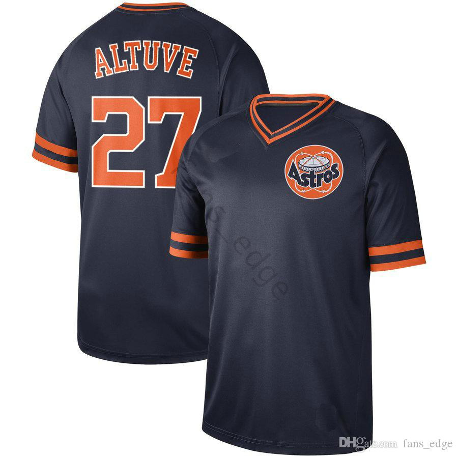 designer fashion 1d4fb 0d6d9 2019 2020 New Arrival NK Houston #27 Jose Altuve Jersey Astros Home Blue  100% Stitched Vintage Retro New Style Baseball Jerseys