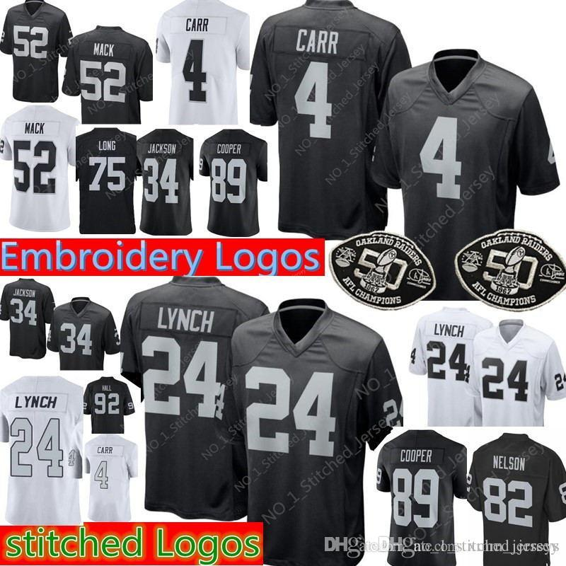 2018 4 Derek Carr 24 Marshawn Lynch Oakland Raiders Jersey Mens 34 Jackson  82 Jordy Nelson 75 Long 89 Amari Cooper Jerseys 14 From Xmm jerseys 3f7c2bf74
