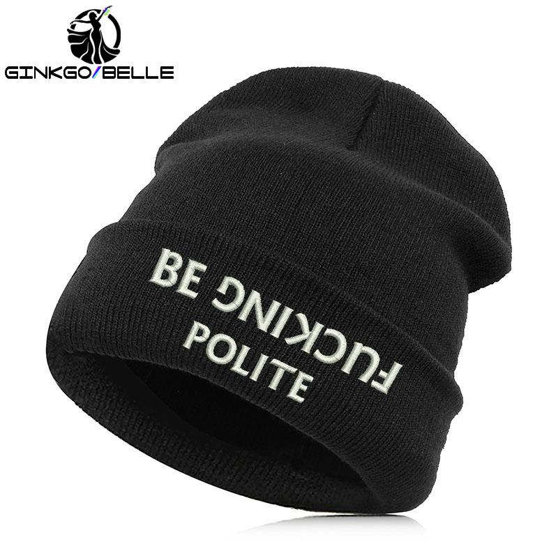Fancy The Police Knit Beanie Autumn Winter Spring Embroidered Texts Black  Hat For Men Women Black White Gray Beanie Hats For Women Beanies For Women  From ... 328ce2fdc9