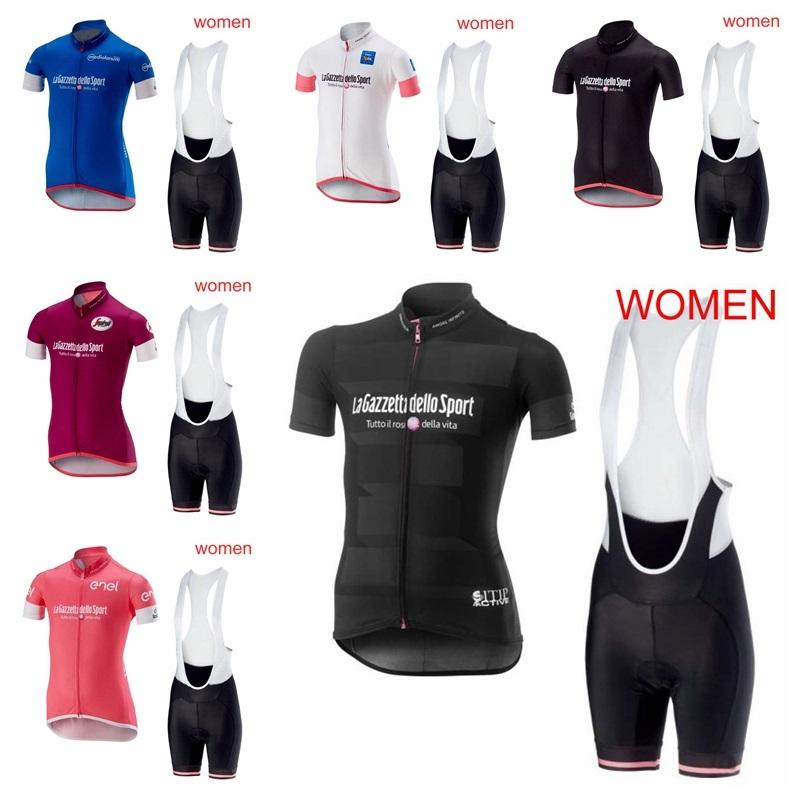 2019 Tour De Italy Outdoor Short Sleeve Cycling Jersey Summer Sports Uniforms Road Bicycle Clothing Women Sportswear Bib Shorts Set