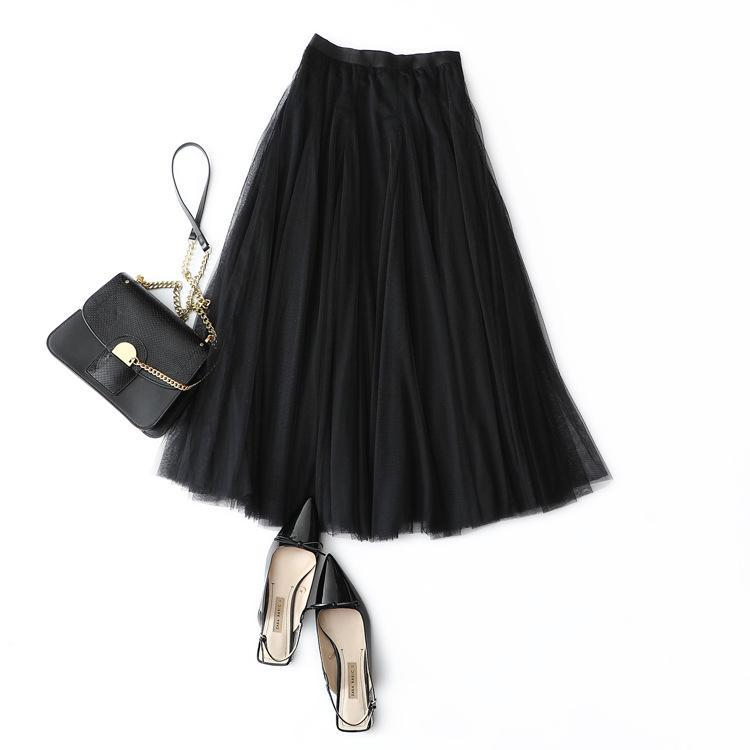 855fdd688 Otoño / invierno nueva falda Moda clásica falda de gran tamaño cintura  floja sueño pantalla