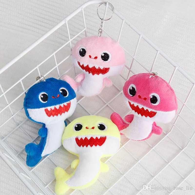 BABY SHARK Keychains Key Chains 10CM Stuffed&Plush Dolls 4inch Keyrings Cars Plush Pendant School Bags Party Home Decoration Top Gifts C31