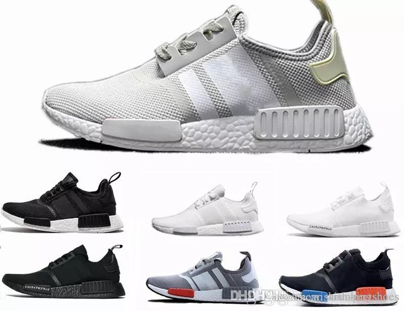 new style b0ee5 f52eb 2018 NEW Cheap pink red gray NMD Runner R1 Primeknit PK Low Men s & Women s  shoes Classic Fashion Sport Shoes Size 36-45