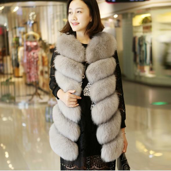 1bb9f668d New 2019 Winter Women's Faux Fur Coat Artificial Fur Vest Warm Vests ...