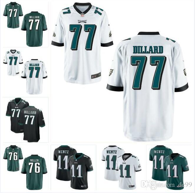 cheaper 285e1 51a7f Andre Dillard Eagles Jersey Carson Wentz Zach Ertz Brian Dawkins Alshon  Jeffery Darren Sproles custom american football jerseys kids mens