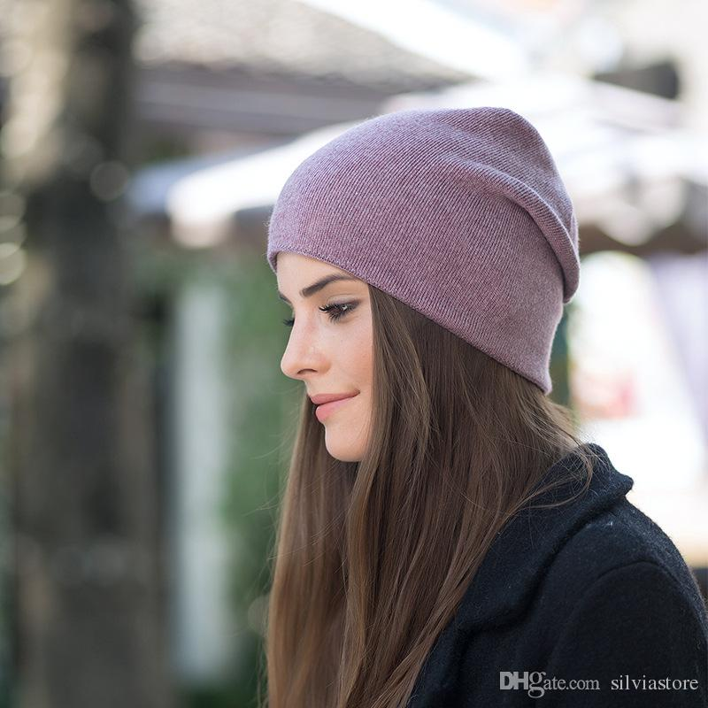50ac254d48c Women Hats Mulicolor Various Color Wool Winter Warm Beanies Fashion Solid  Knitted Thicken Skull Caps Manufactures Beach Hats Beanie Hats For Men From  ...