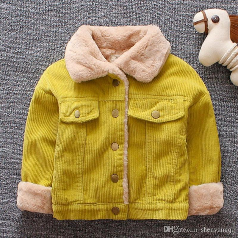 Baby Girls Boys Casual Winter Warm Jacket For Kids Plush Cotton Coat Children Lapel Outerwear Toddler Christmas Clothes