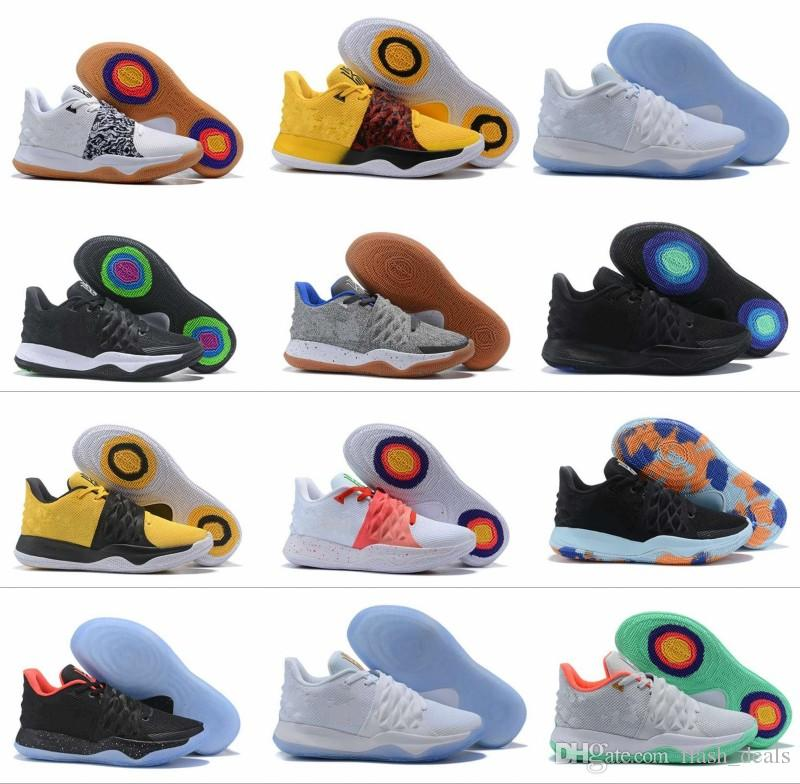New Kyrie Basketball Shoes Mens Kyrie Shoes Top Quality Irving 4s 4 Purple  Yellow Black White Sports Sneakers Size 40 46 Jordans Sneakers Sneakers  Sale From ... 4eae8501b6