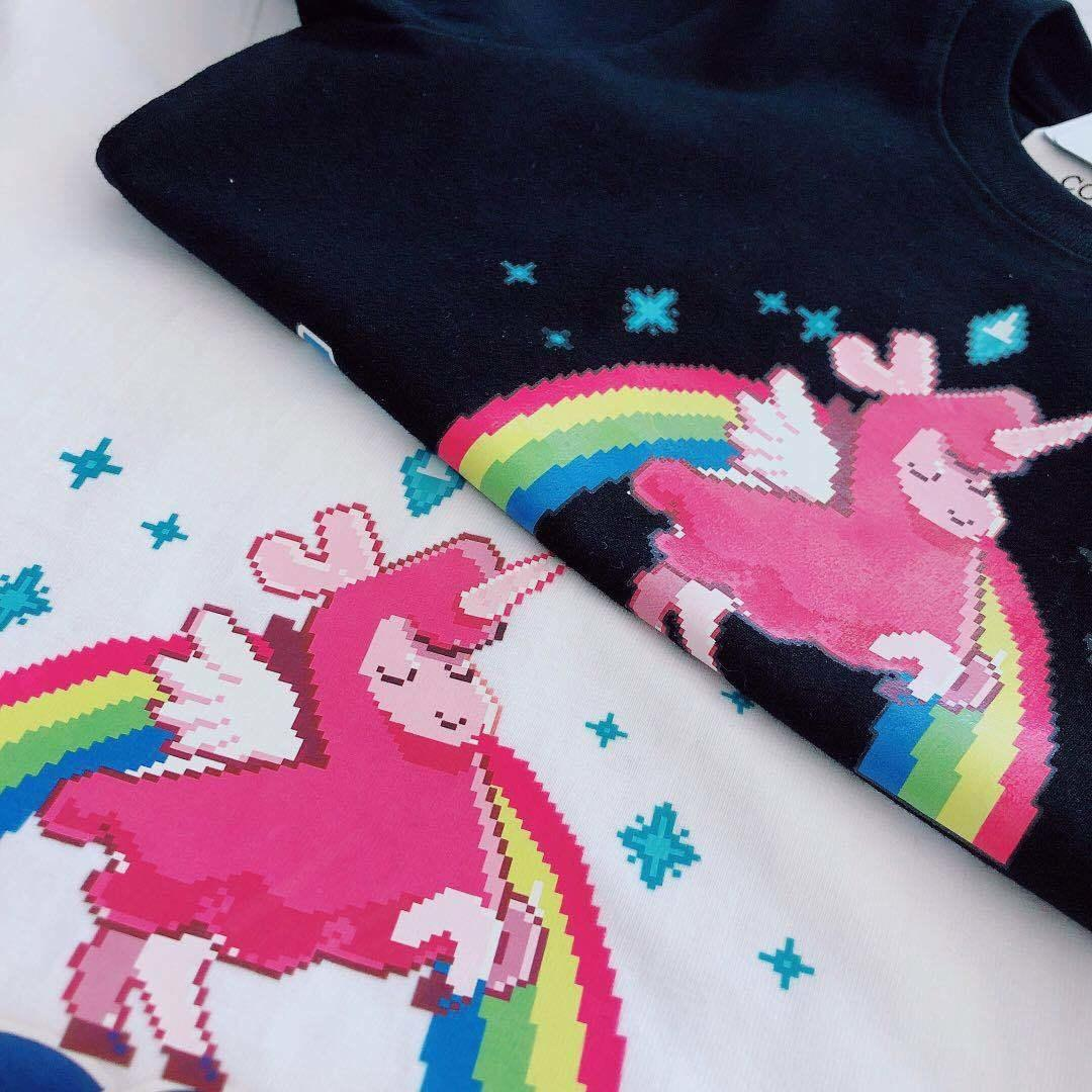 Parent-child t-shirt Summer fashion kids designer costume Cute unicorn pattern boys and girls short-sleeved shirt