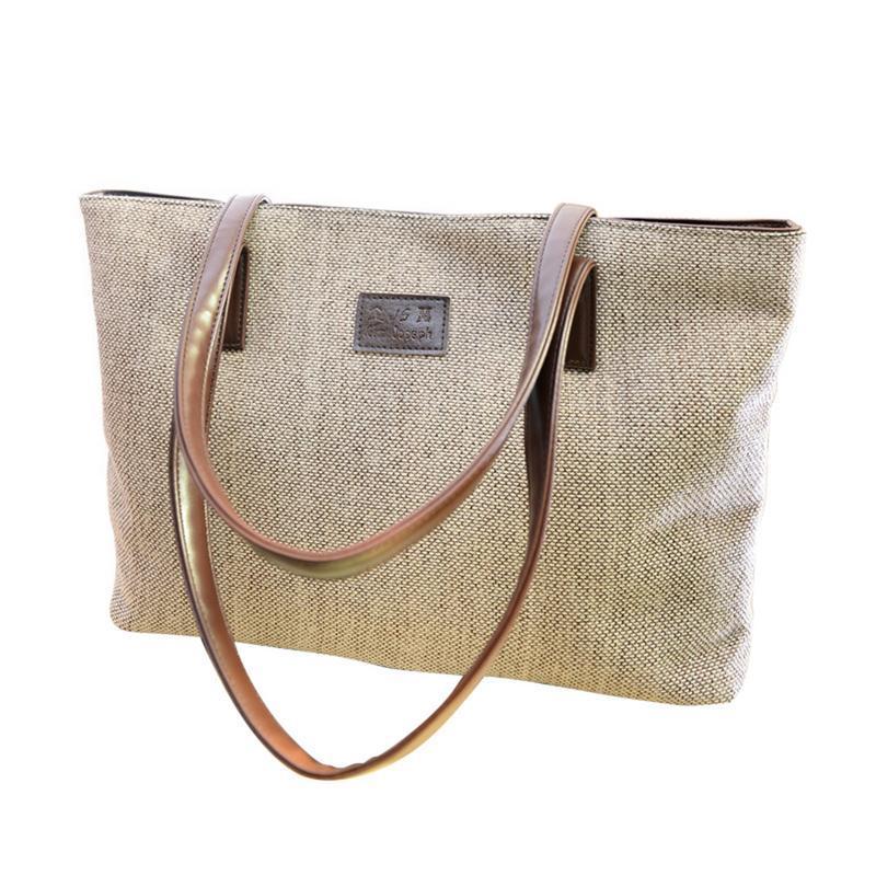 c080972fc742 Handbag Shoulder Bag Canvas Korean Version Simple Big Large All ...