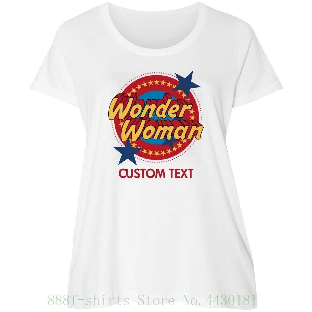 8f04355223b Women S Tee Custom Wonder Woman Emblem Plus Tee   Women S Curvy Plus Size  Scoopneck T Shirt 2018 Summer Women T Shirt Shopping Online T Shirt Humor  From ...