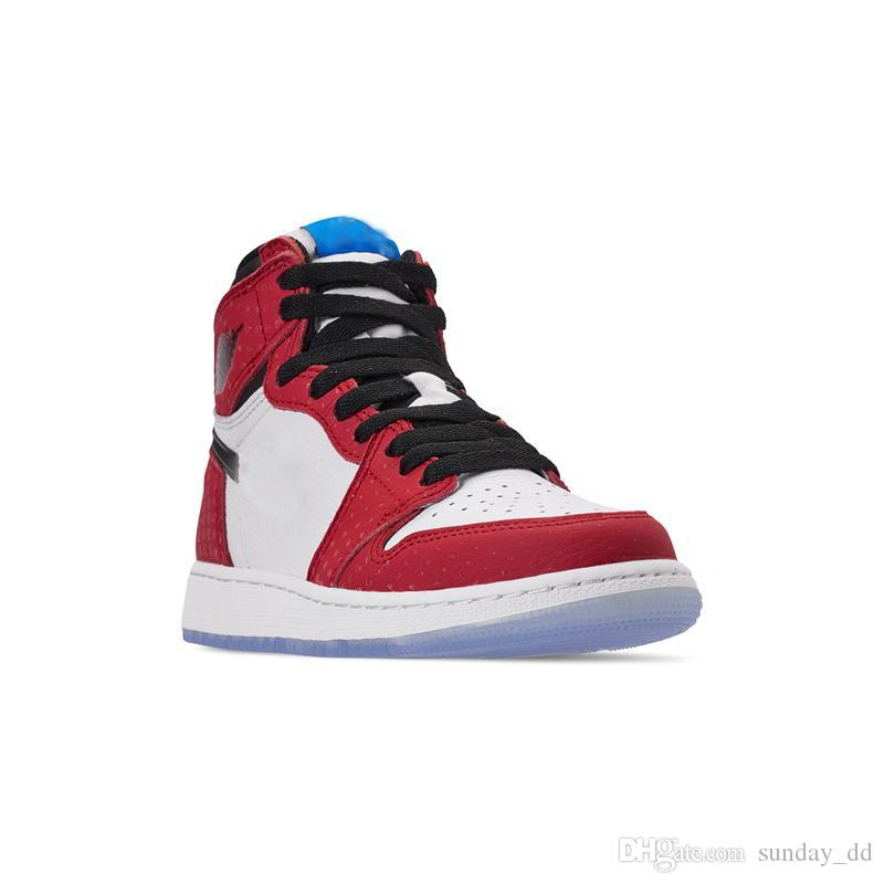 153e60ca242f16 2019 Authentic Top Quality 1 High OG Chicago Crystal Man Basketball Shoes  Gym Red Spider Blue Red White 1S Men Sports Sneakers 555088 602 WithBox From  ...