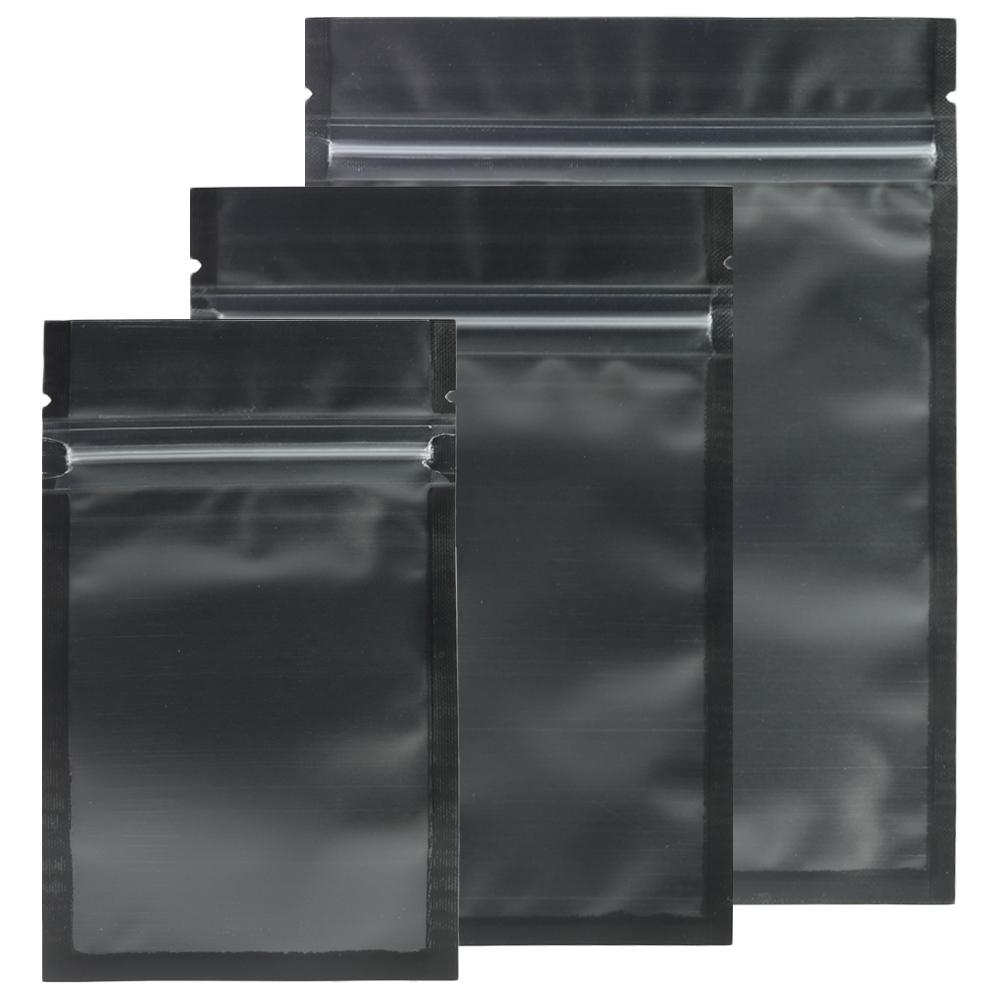 5b1463b09035 Assorted Sizes Matte Clear/Black/Black Zip Lock Bags 100pcs Plastic Flat  Ziplock Package Bag