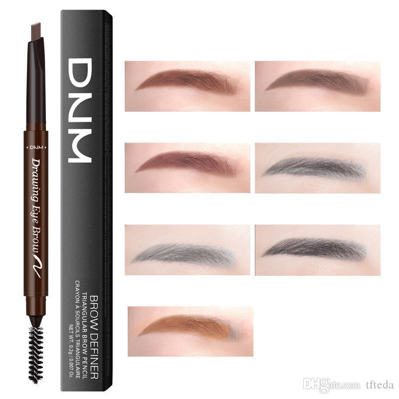DNM Eyebrow Pencil Automatically Rotating Makeup Eyebrow Pencil  Long-lasting Waterproof NO Blooming Brown Black Grey Colors Free Shipping