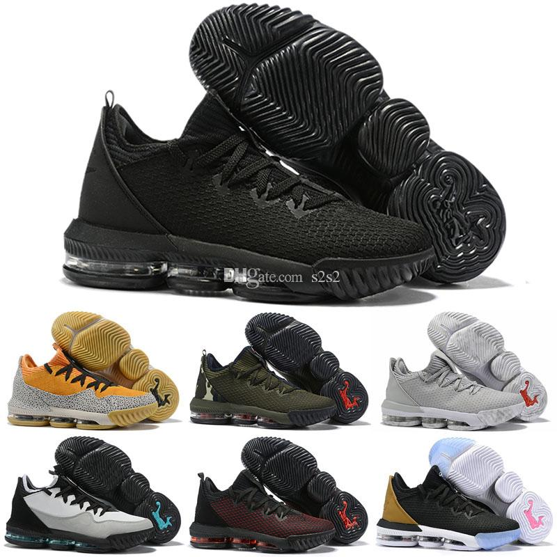 separation shoes 4d858 3326b Cheap Mens LeBRon 16 XVI Low EP Basketball Shoes for Sale Promise Black  Multi Color Sneakers Tennis