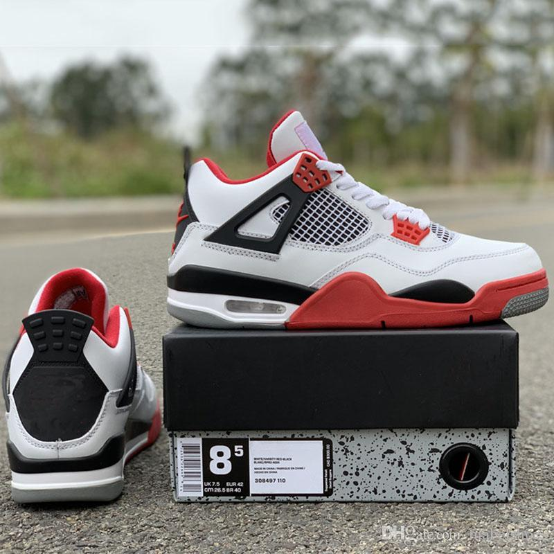 2d96c5898b62 Updated NRG Basketball Shoes 4s White Red Classic Fashion Designer Mens  Ourdoor Trainers TOP Quality Sport Shoes Size 7 13 Shoes Mens Online Shoes  From ...