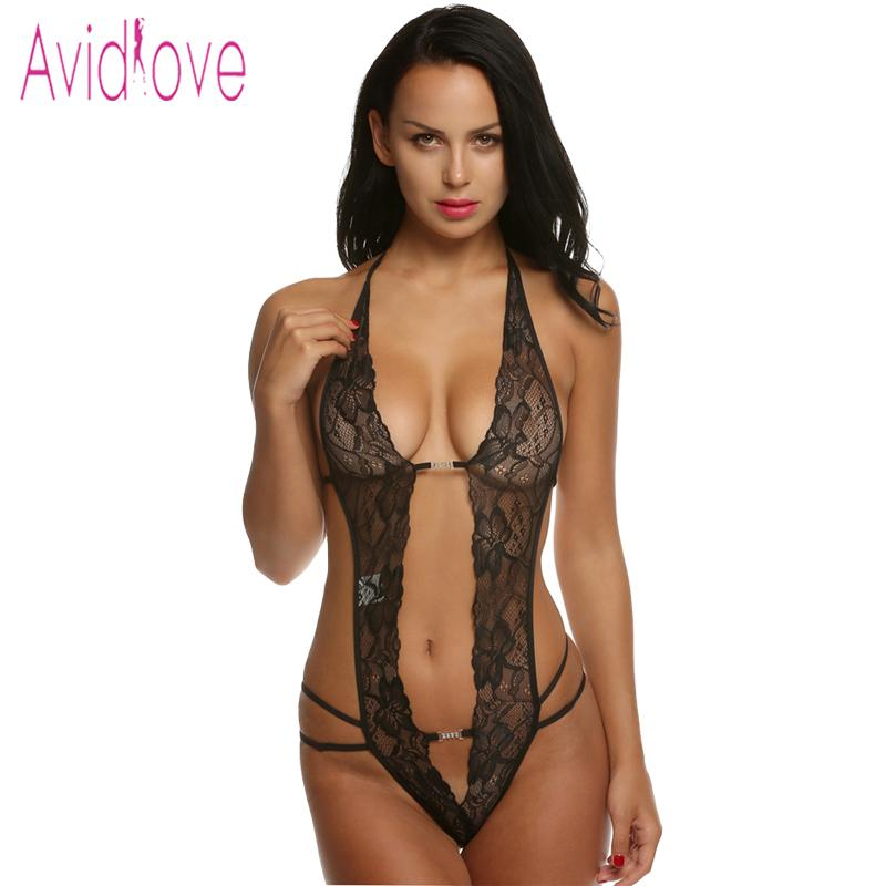 11a749f1a Avidlove valentine s day sexy lingerie hot erotic lace deep v neck teddy  sexy erotic underwear lingerie lenceria sexy costume C19010801
