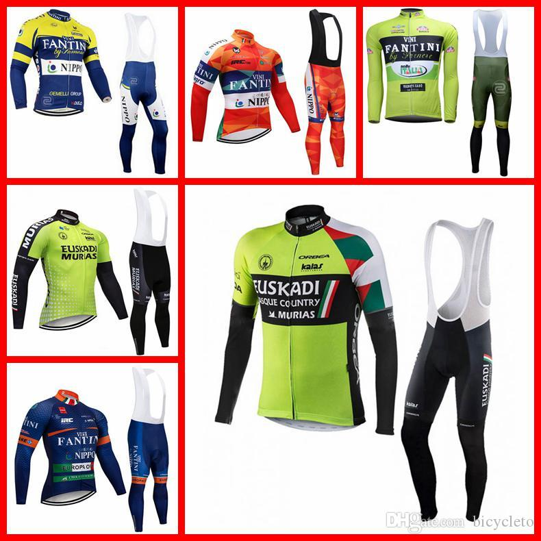 FANTINI Euskadi Team Cycling Long Sleeves Jersey Bib Pantssets 2019 Spring  High Quality Variety of Options Quick-Dry N30404 FANTINI Euskadi Cycling  Jersey ... d6a1303bb