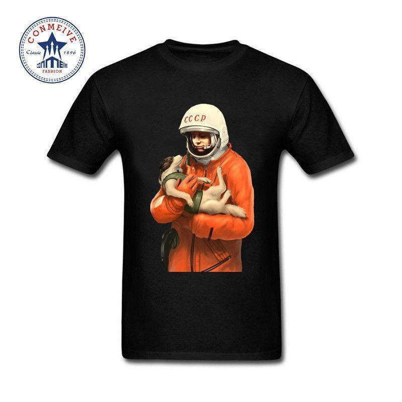 d9ada94b7a9 Yuri Gagarin CCCP Russian USSR Soviet Union Man Moscow Russia Funny T Shirt  Men Summer Short Sleeves Cotton Online Tshirt Shopping Artistic T Shirts  From ...