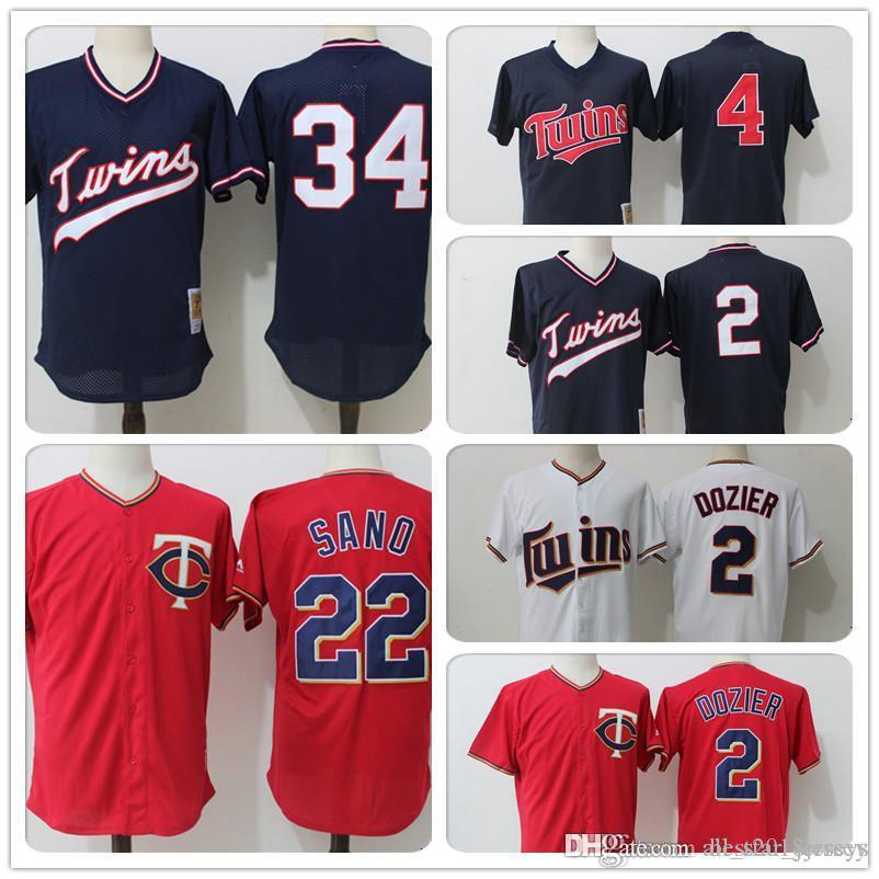 lowest price a559f 0ce25 Minnesota 22 Twins Miguel Sano Jersey Cool base Jersey 34 Kirby Puckett  Jersey 4 Paul Molitor 2 Brian Dozier a2