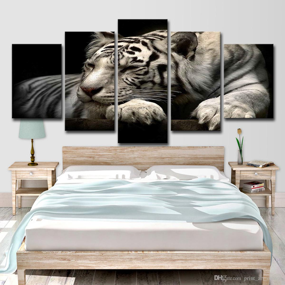 2019 Canvas Paintings Home Decor Modular HD Prints Posters Animals ...
