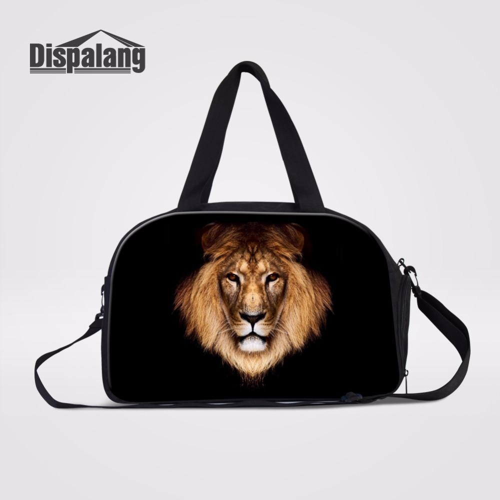 631f8582f53 Dispalang Large Capacity Women Travel Bags With Independent Shoes Unit Lion  Prints Organized Duffle Bag Weekend Over Night Bag Waterproof Bags Sport  Bags ...