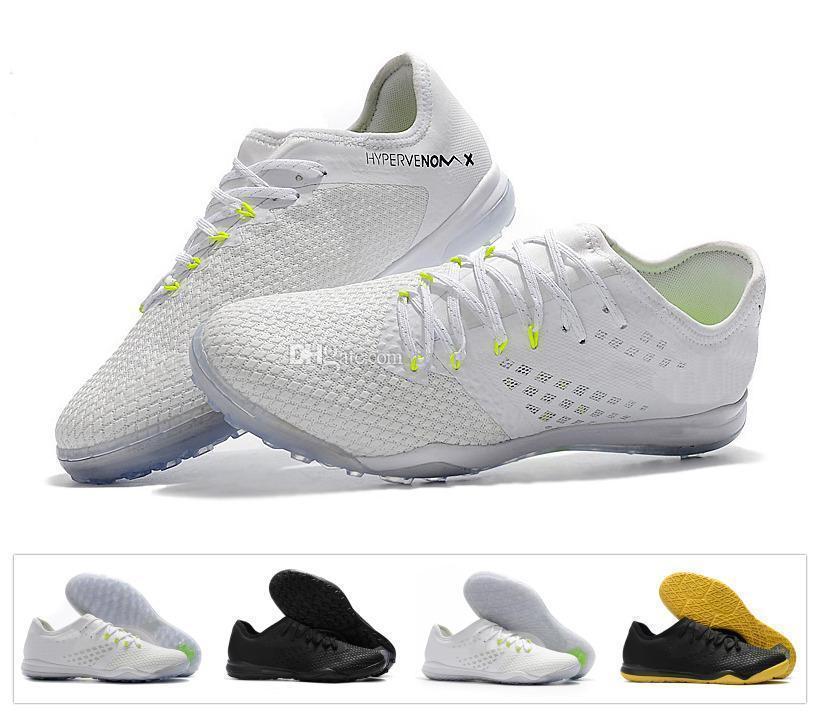sports shoes 49638 bc941 Compre Phantomx Zoom Hypervenom New Iii 3 Pro Tf Ic Kpu High Top Hombre  Mujer Chicos Zapatillas De Fútbol Botas De Fútbol Botines Blanco Negro A  $36.2 Del ...