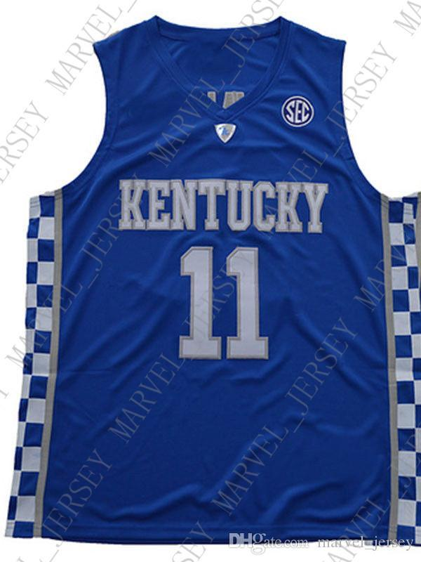 hot sale online 678f3 07566 Cheap wholesale John Wall Jersey Kentucky Wildcats Blue White Sewn  Basketball Jersey Customize any name number MEN WOMEN YOUTH