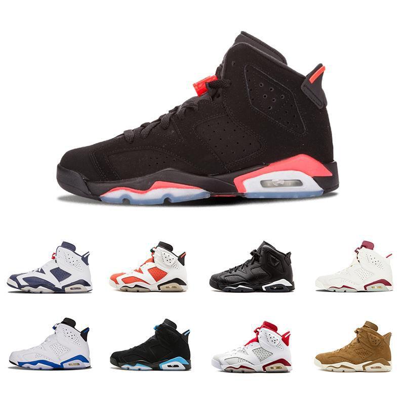 4be6c41245d1 2018 6 Men Basketball Shoes UNC Hare Carmine White Infrared Black ...