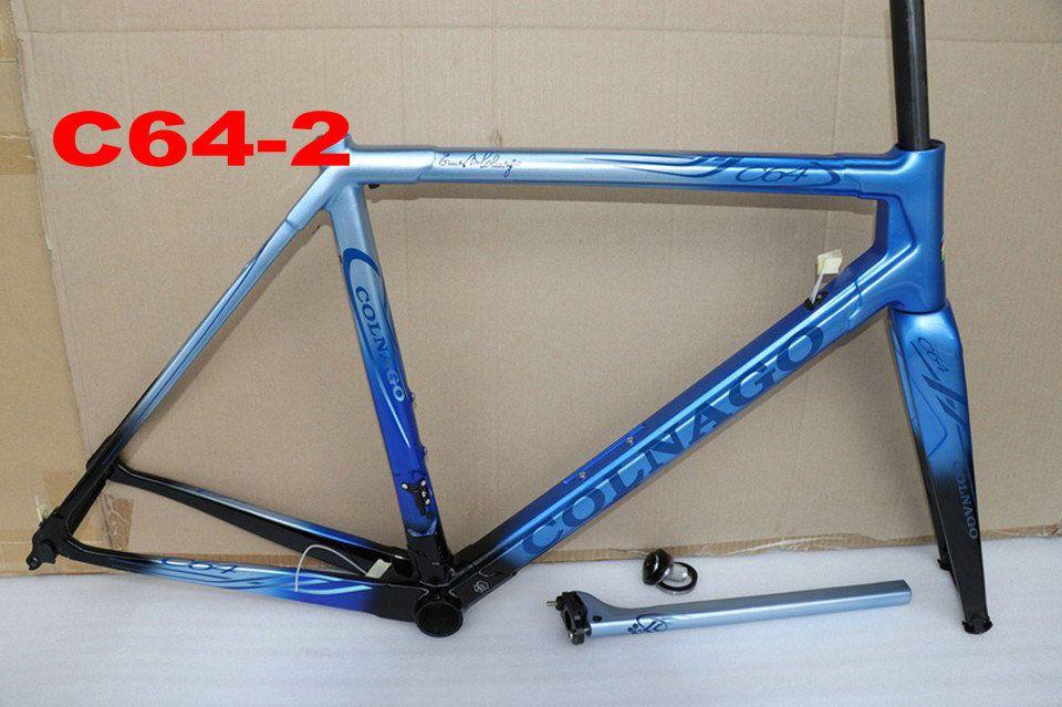 Colnago C64 Rahmen Rennrad Rahmen Carbon Fahrrad Matt glänzend Carbon Straßenrahmen 48cm 50mm 52cm 54cm 56cm