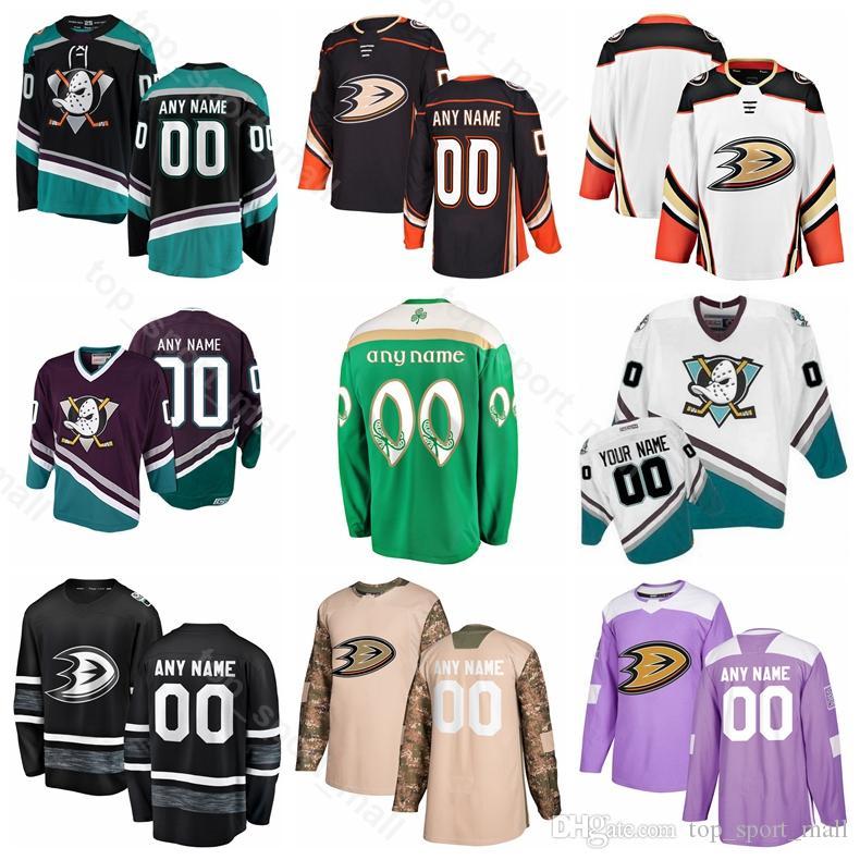 new arrival 207ed 18c97 Anaheim Ducks 15 Ryan Getzlaf Jersey Ice Hockey 10 Corey Perry 17 Ryan  Kesler Adam Henrique Rickard Rakell St Patricks Day Black White