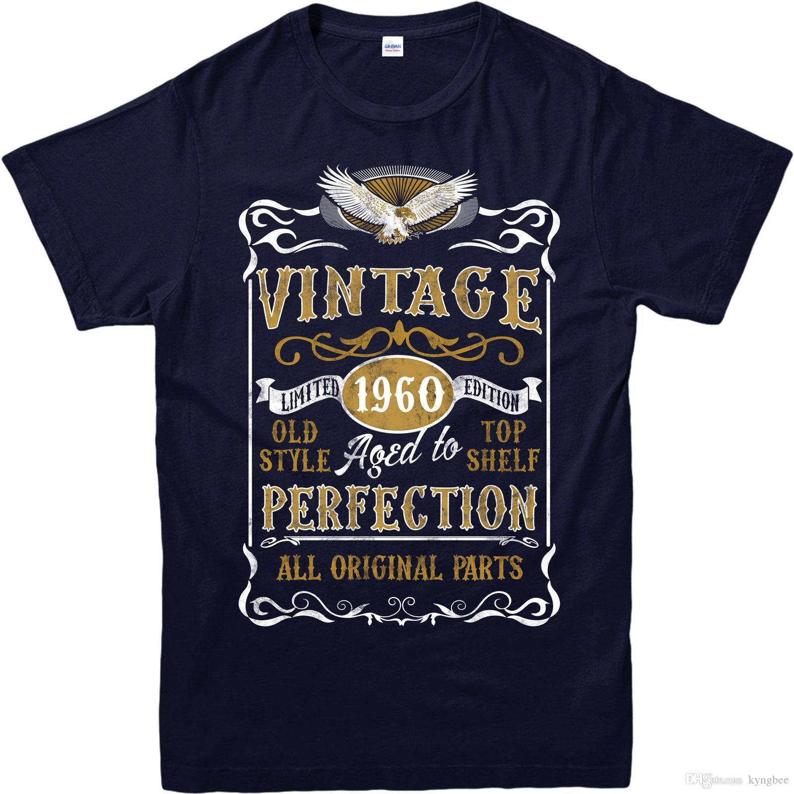 Made In 1960 Vintage T Shirt Born Birthday Age Year Gift Top White Tee Shirts From Kyngbee 1072