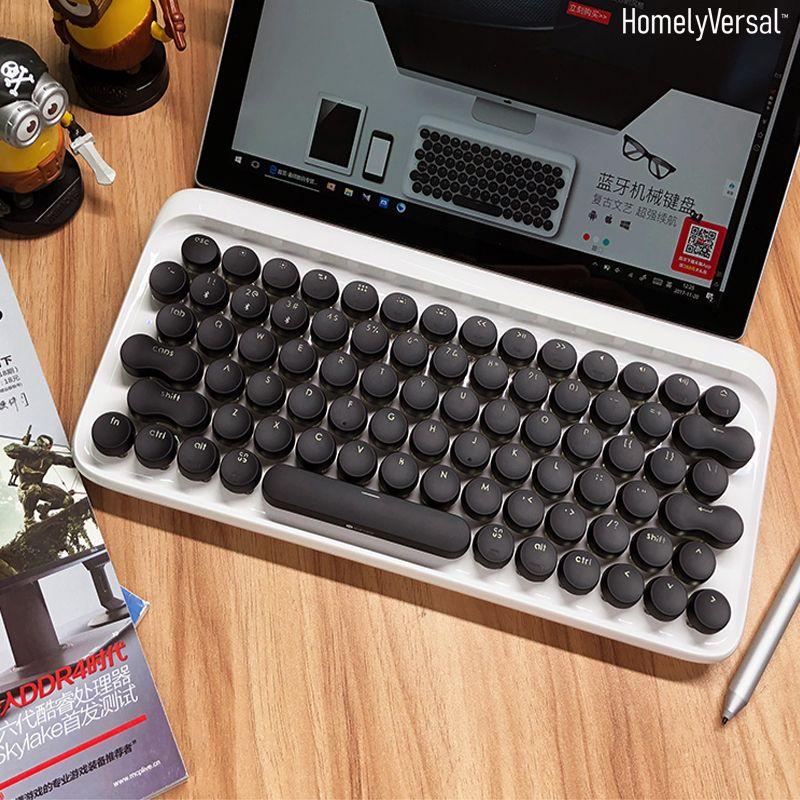 Creative Gaming mini Portable dot bluetooth mechanical keyboard wireless  for phone iPad MAC girl tablet typewriter