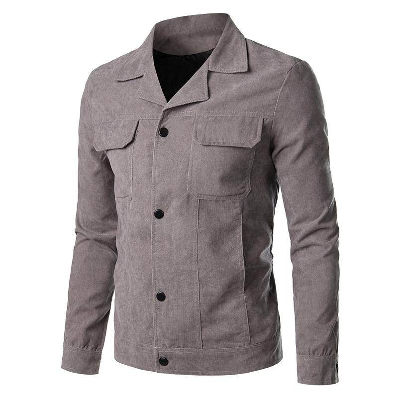 2019 NEW Autumn Winter Men Trench Coat Slim Fitness Casual Jackets Solid Turn-down Collar Single Breasted Pockets Parka For Male