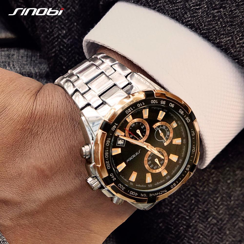 a901e938fa62 Compre SINOBI Top Marca De Lujo Reloj De Cuarzo Para Hombre Cronógrafo  Relojes Deportivos Reloj De Acero Inoxidable 2018 Relojes Hombres   9720 A   41.69 Del ...