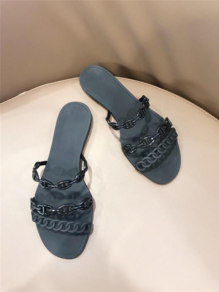 d881232dd0f7f1 Luxury Brand Rivage Sandals Sandal In Thermoplastic Polyurethane With  Chaine D Ancre Motif And Strappy Silhouett H Slippers H13 Men Boots Slipper  Boots From ...