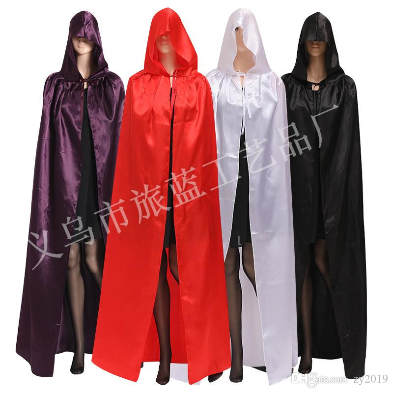 Halloween Black Red Vampire Cape Dracula Devil Cloak Kids Fancy Dress Costume