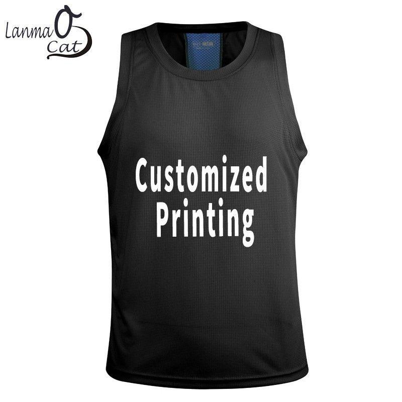 4f7c08c1aa32 2019 Lanmaocat Men Tank Tops Bodybuilding Fitness Cloth For Men Customized  Print Sleeveless Fitness Sport Wear Tank Top From Lorsoul, $26.41 |  DHgate.Com